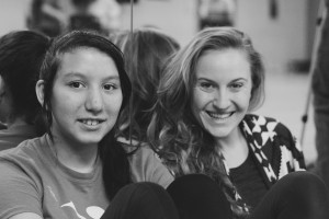 Abigail with her mentor Mollie Wolf.  Photography by Kimberlee Kidd.